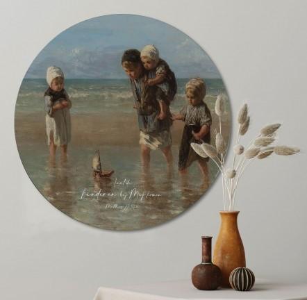 muurcirkel-kinderen-der-zee-60-cm